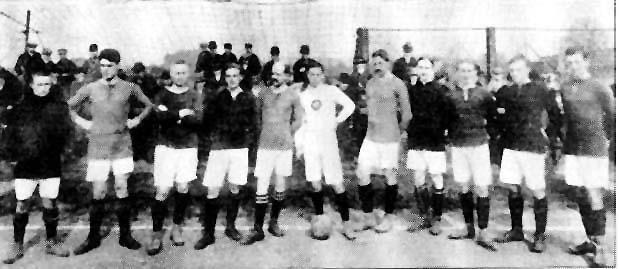 Mannschaftsfoto Duisburger SV 1913: damals deutscher Vizemeister.