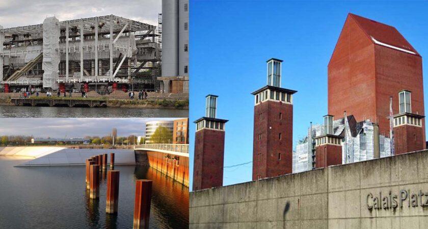 Innenhafen 4 - links Gebäude, rechts Schwannentor