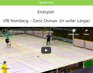 Vorschau Hallen-Fußball Finale VfB Homberg - Genc Osman