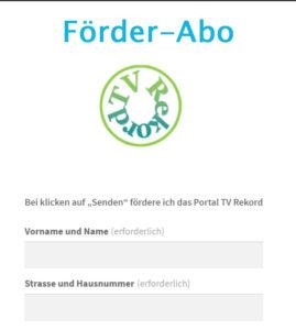 Grafik Förder-Abo TV Rekord!