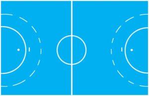 Grafik Handball-Feld