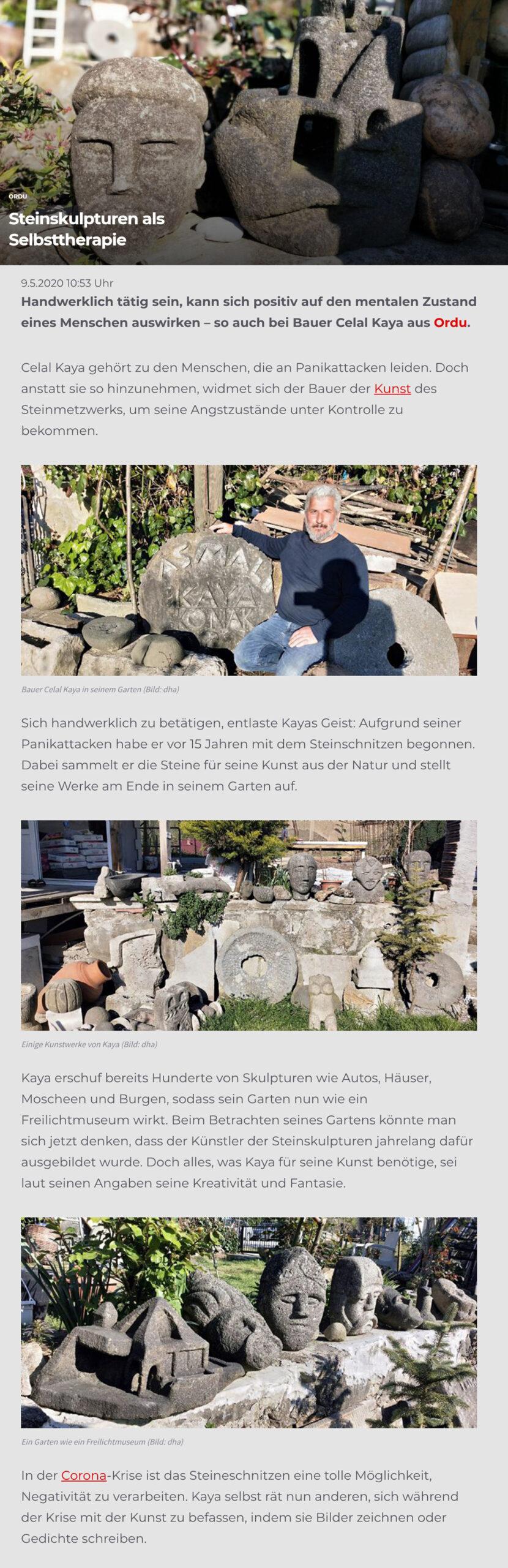 Artikel Steinskulpturen als Selbsttherapie - Hürriyet.de - Lifestyle