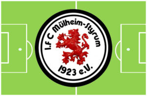 Grafik Fußball-Feld mit Wappen 1. FC Styrum