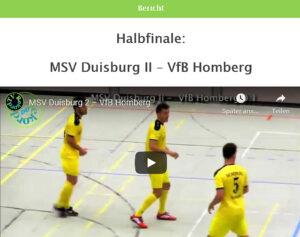 Vorschau Hallenfußball Halbfinale MSV2-Honberg