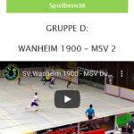 Vorschau Hallenfußball Wanheim - MSV2