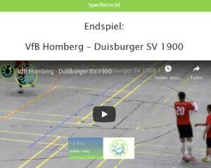 Vorschau Finale VfB Homberg - Duisburger SV 1900