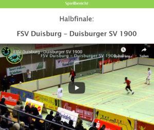 Vorschau Halbfinale FSV Duisburg - Duisburger SV 1900