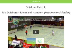 Vorschau Neunmeterschießen FSV Duisburg - Rheinland Hamborn